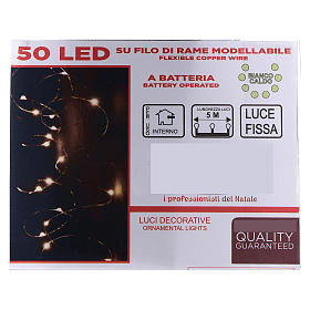 Fairy lights 5 m battery operated 50 warm white LEDs indoor s4