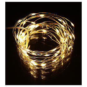 Fairy lights 5 m battery operated 50 warm white LEDs indoor s1