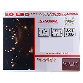 Fairy lights 5 m battery operated 50 warm white LEDs indoor s3