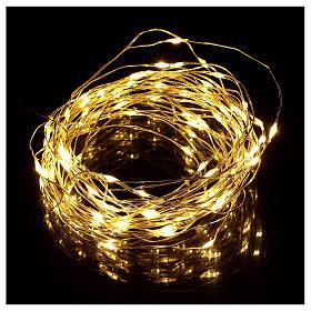 Cadena luminosa Navideña con batería 10 m 100 gotas led blanco cálido s2