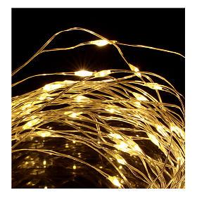 Cadena luminosa Navideña con batería 10 m 100 gotas led blanco cálido s3