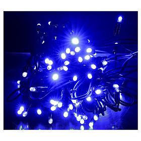 Cadena luminosa Navideña 10 m con 100 led azul exterior corriente s2