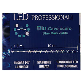 Cadena luminosa Navideña 10 m con 100 led azul exterior corriente s7