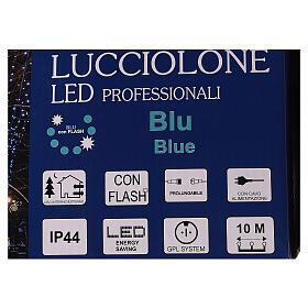 Cadena luminosa Navideña 10 m con 100 led azul exterior corriente s8