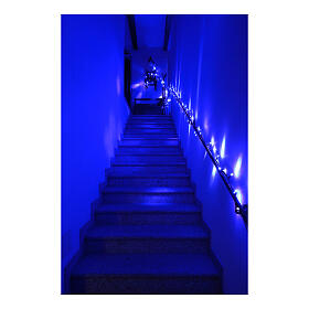 Catena luminosa Natalizia 10 m con 100 led blu esterno corrente s1