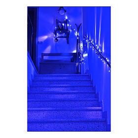 Catena luminosa Natalizia 10 m con 100 led blu esterno corrente s3