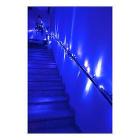 Catena luminosa Natalizia 10 m con 100 led blu esterno corrente s4