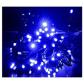 Christmas lights, 10 m, 100 blue LED lights, indoor and outdoor use (power supply not included) s2