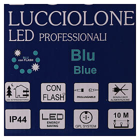 Christmas lights, 10 m, 100 blue LED lights, indoor and outdoor use (power supply not included) s7