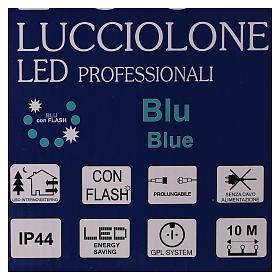 Cadena luminosa 10 m 100 led azul sin alimentador exterior corriente s7