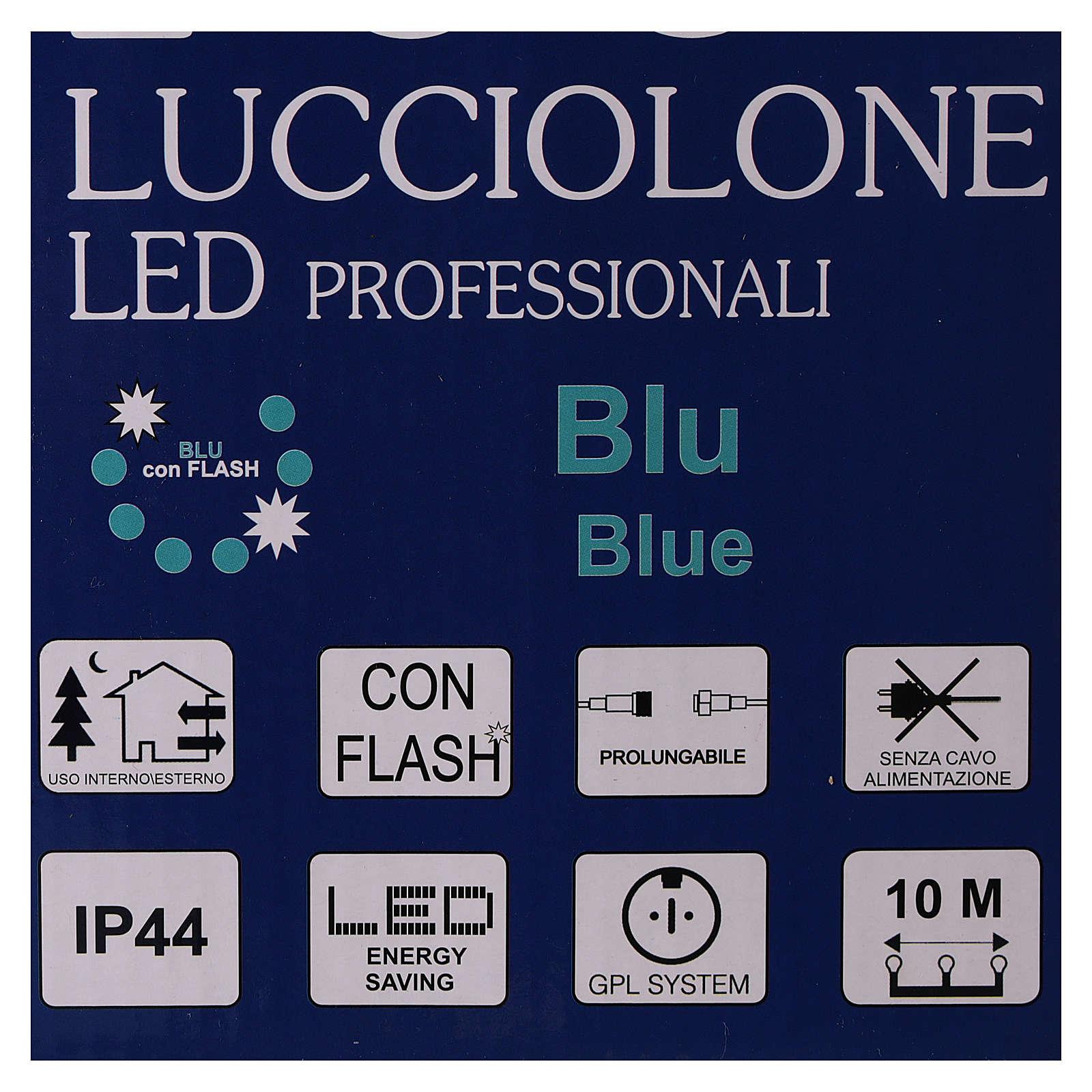 Guirlande lumineuse Noël 10 m avec 100 LED bleus sans alimentation extérieur courant 3