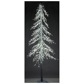 Árbol luminoso Diamond 250 cm 720 led blanco frío exterior corriente s3