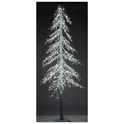 Árbol luminoso Diamond 250 cm 720 led blanco frío exterior corriente 2