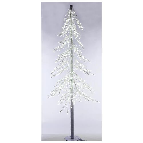 Albero luminoso Diamond 250 cm 720 led bianco freddo esterno corrente 2