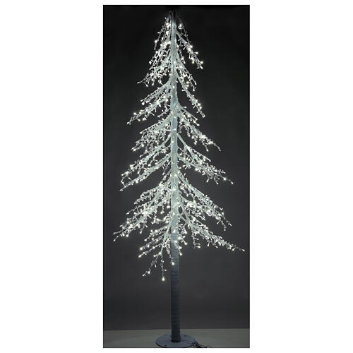 Albero luminoso Diamond 250 cm 720 led bianco freddo esterno corrente 3