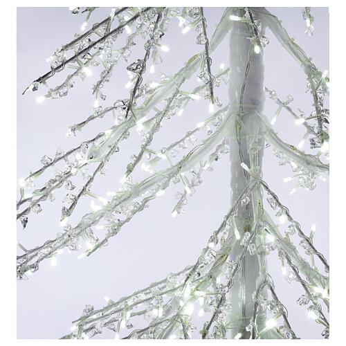 Albero luminoso Diamond 250 cm 720 led bianco freddo esterno corrente 6