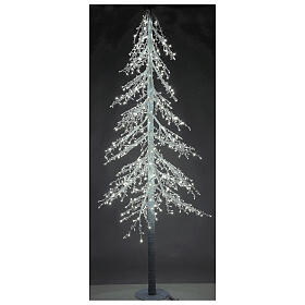 Lighted Christmas tree Diamond 250 cm with 720 cold white LEDs external electric powered s1