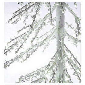Lighted Christmas tree Diamond 250 cm with 720 cold white LEDs external electric powered s3