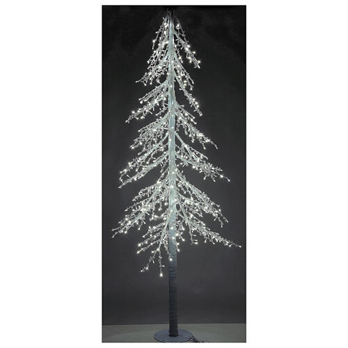 Lighted Christmas tree Diamond 250 cm with 720 cold white LEDs external electric powered 1