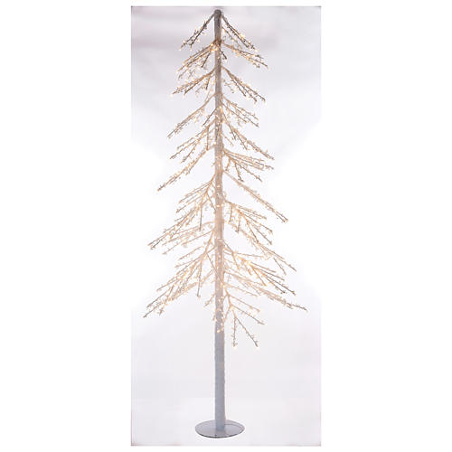 Árbol luminoso Diamond 250 cm 720 led blanco cálido exterior corriente 1