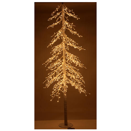 Árbol luminoso Diamond 250 cm 720 led blanco cálido exterior corriente 2