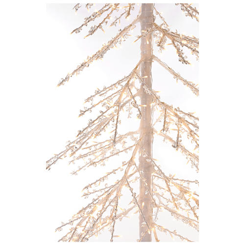 Árbol luminoso Diamond 250 cm 720 led blanco cálido exterior corriente 4