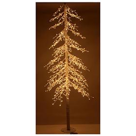 Albero luminoso Diamond 250 cm 720 led bianco caldo esterno corrente s2