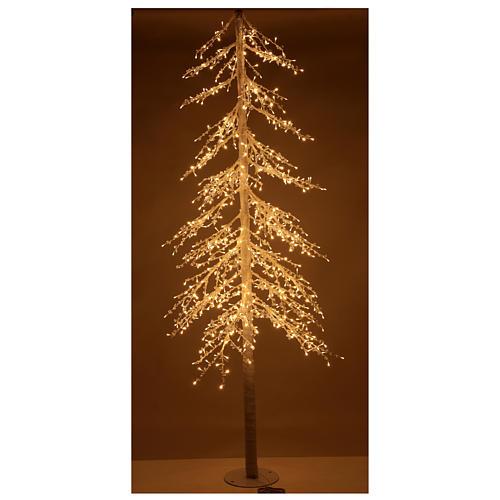 Albero luminoso Diamond 250 cm 720 led bianco caldo esterno corrente 2