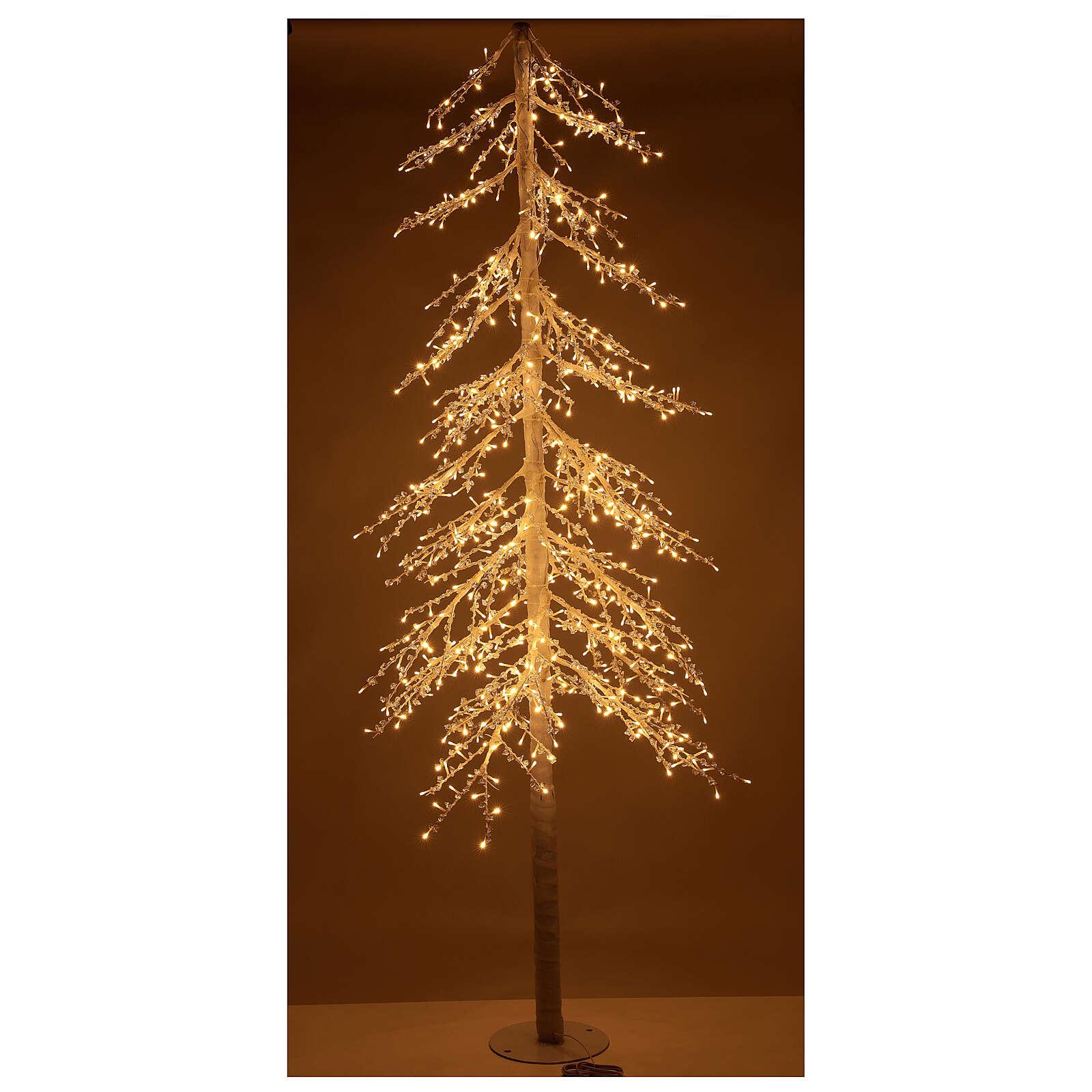 Christmas tree figure Diamond 250 cm 720 warm white LEDs outdoors electric powered 3