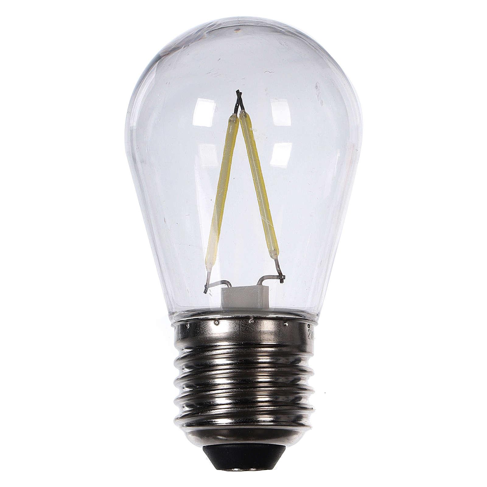 Lampadina goccia bianco 2W per cinture e catene luminose 3