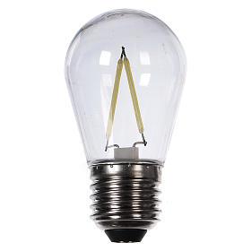 Lampadina goccia bianco 2W per cinture e catene luminose s1