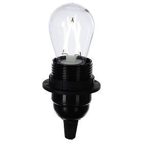 Lampadina goccia bianco 2W per cinture e catene luminose s2