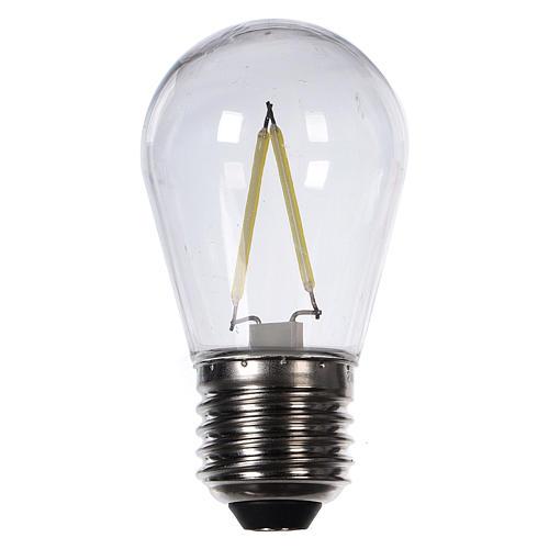 Lampadina goccia bianco 2W per cinture e catene luminose 1