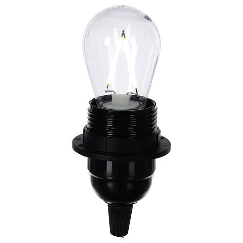 Lampadina goccia bianco 2W per cinture e catene luminose 2