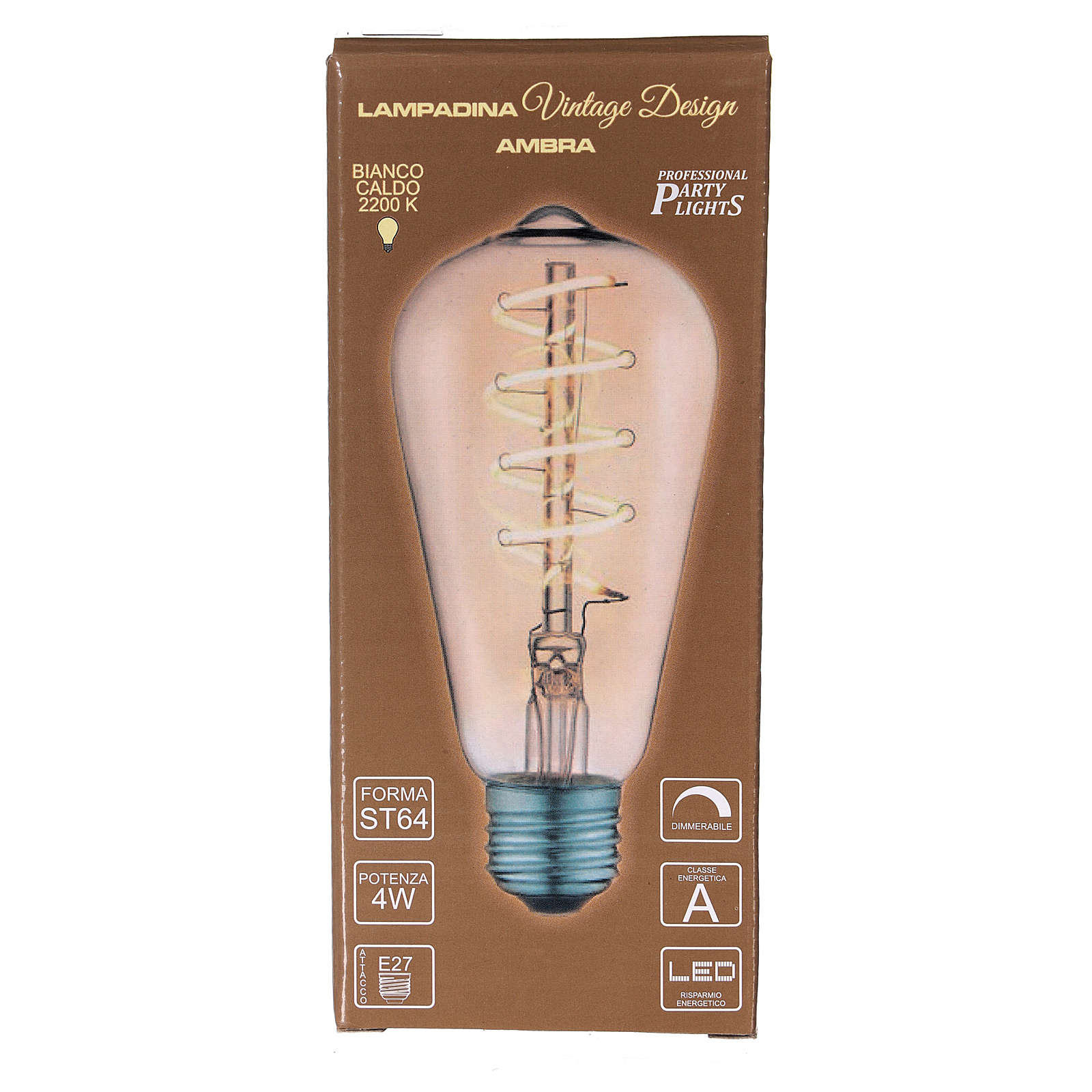 Lampadina ambra E27 4W per cinture e catene luminose 3