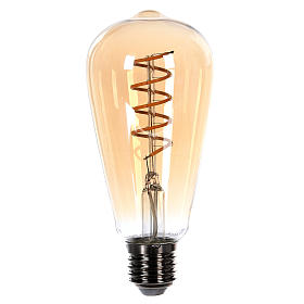Lampadina ambra E27 4W per cinture e catene luminose s1