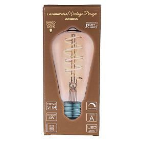 Lampadina ambra E27 4W per cinture e catene luminose s3