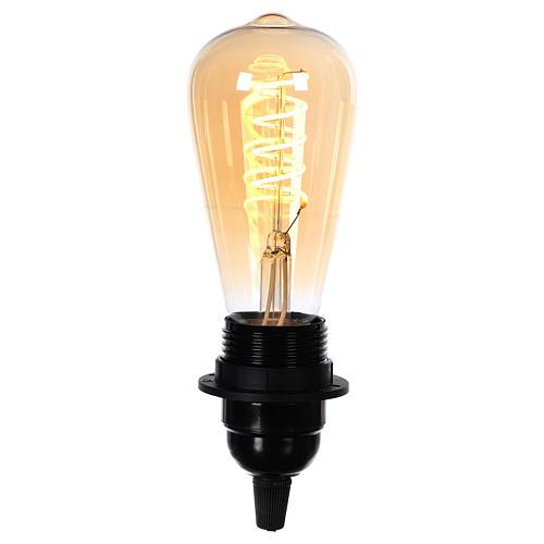 Lampadina ambra E27 4W per cinture e catene luminose 2