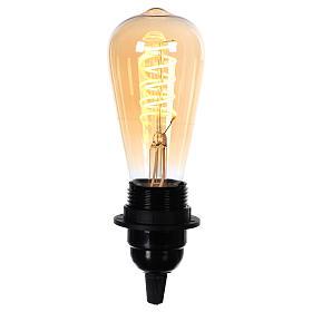 Amber light bulb E27 4W for nativity scenes s2