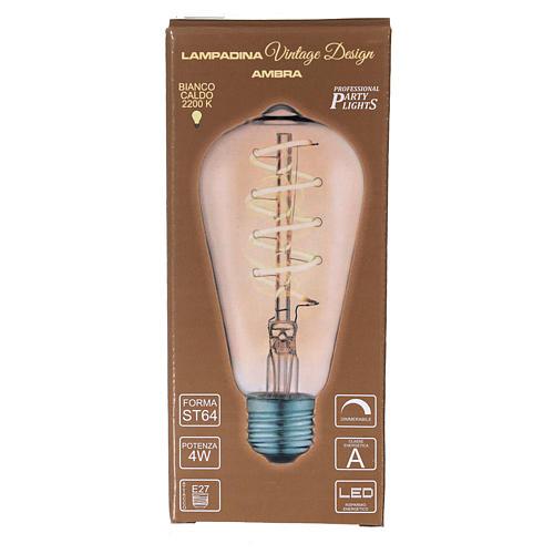 Amber light bulb E27 4W for nativity scenes 3