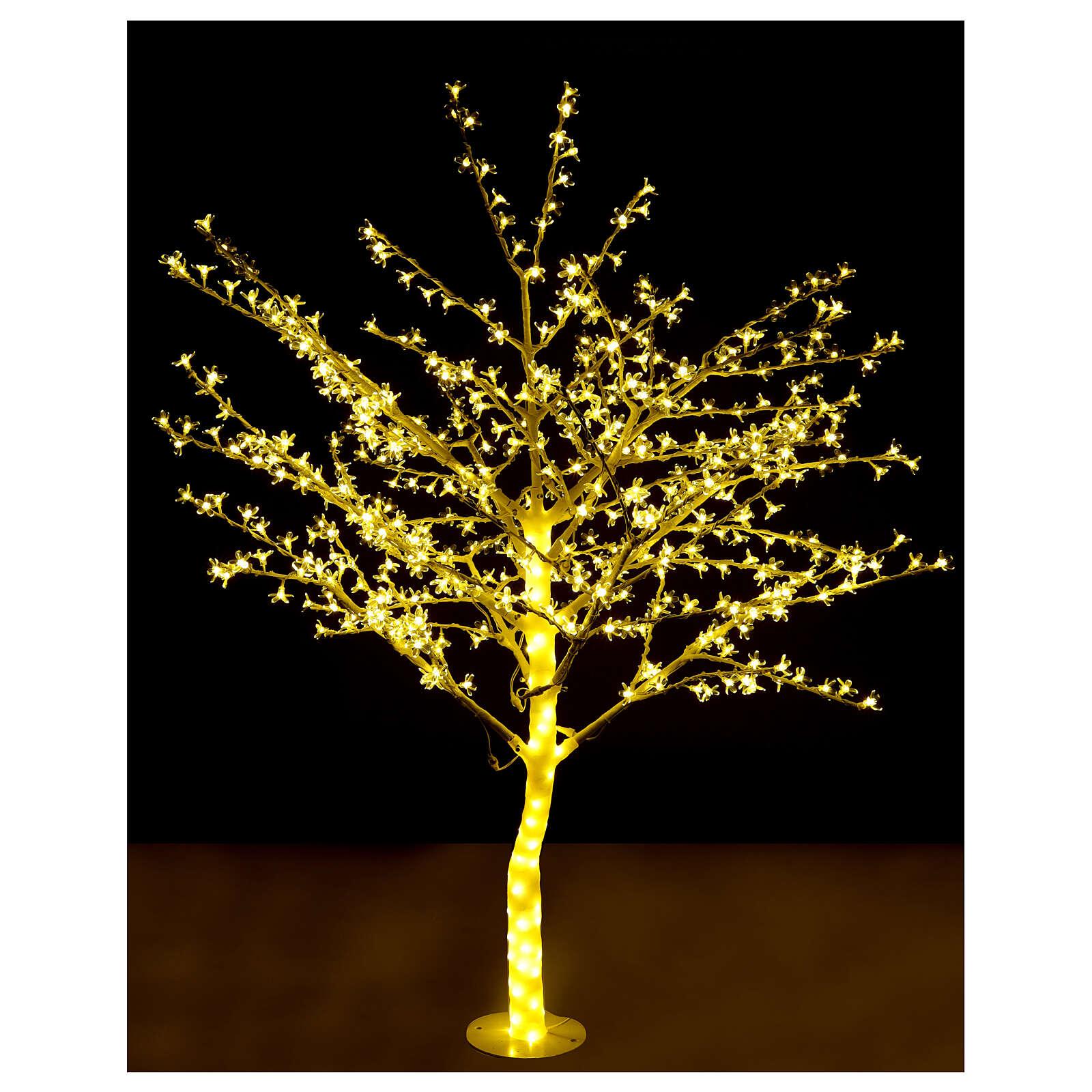 Árbol luminoso 180 cm cerezo en ciernes 600 led blanco cálido para exterior 3
