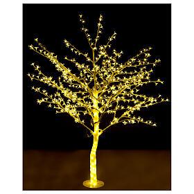 Árbol luminoso 180 cm cerezo en ciernes 600 led blanco cálido para exterior s2