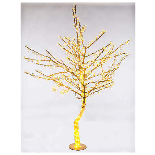Árbol luminoso 180 cm cerezo en ciernes 600 led blanco cálido para exterior 1