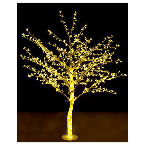 Árbol luminoso 180 cm cerezo en ciernes 600 led blanco cálido para exterior 2