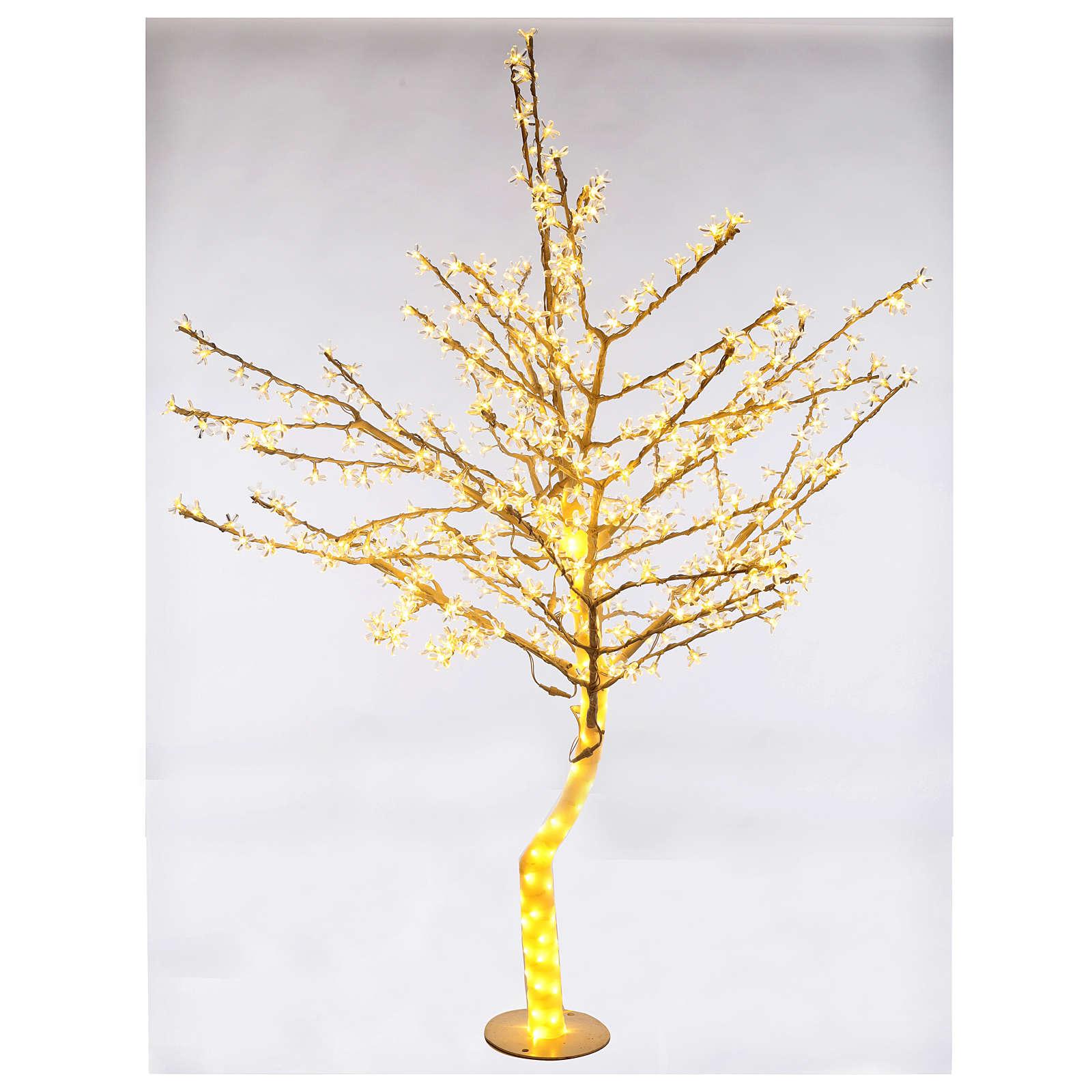 Albero luminoso 180cm ciliegio in fiore 600 led bianco caldo per esterno 3