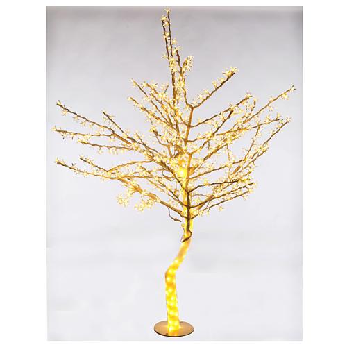 Albero luminoso 180cm ciliegio in fiore 600 led bianco caldo per esterno 1