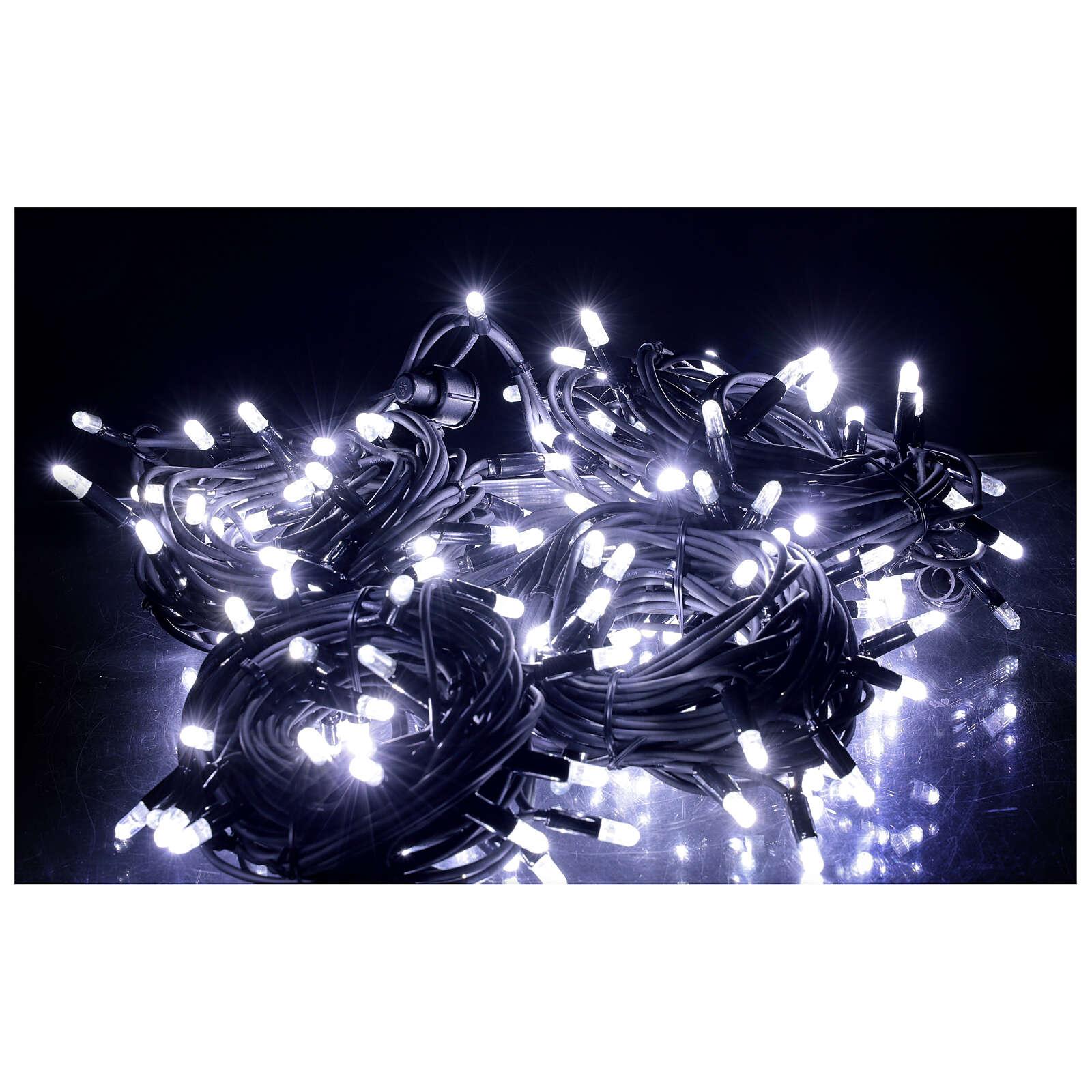 White Christmas lights LEDs 200 lights 20 m external electric powered 3