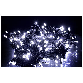 White Christmas lights LEDs 200 lights 20 m external electric powered s1
