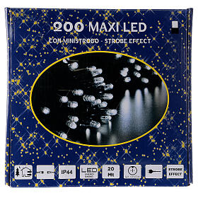White Christmas lights LEDs 200 lights 20 m external electric powered s5