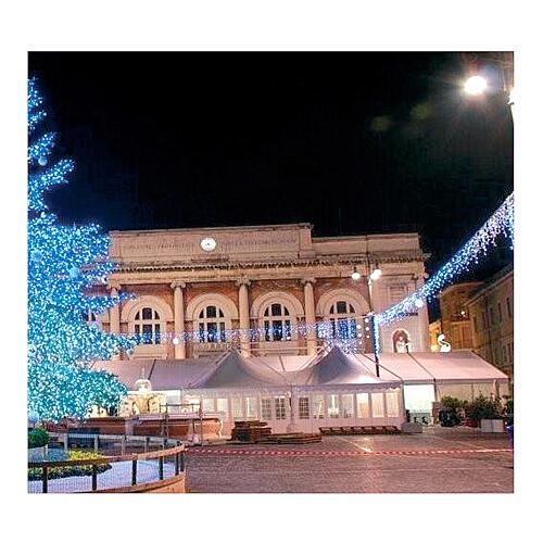 White Christmas lights LEDs 200 lights 20 m external electric powered 2